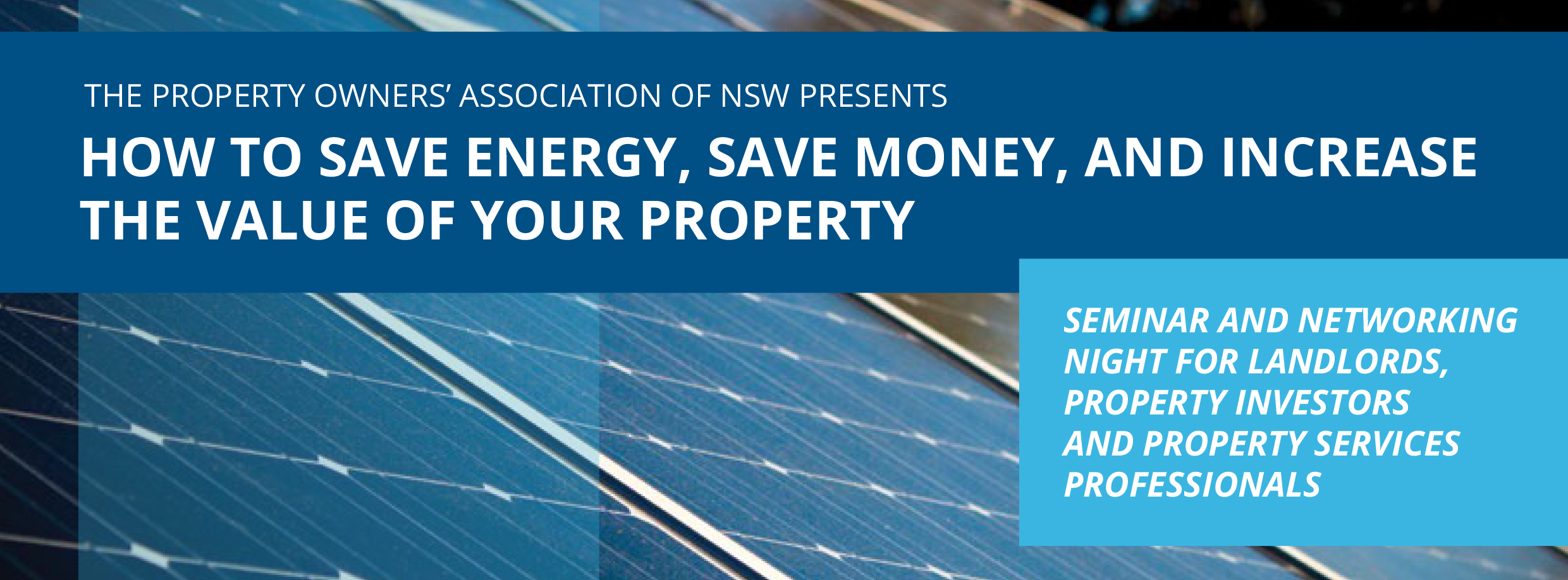 How to Save Energy, Save Money and Increase the value of Your Property @ Balmain Bowling Club