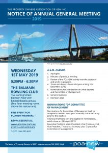 2019 ANNUAL GENERAL MEETING @ Balmain Bowling Club